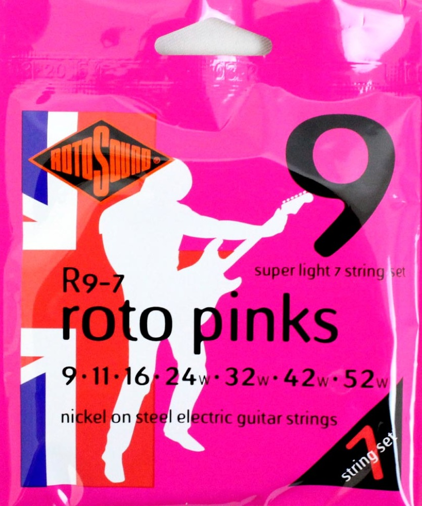 ROTOSOUND ROT-R9/7 7 Strings Set Sup Light 7弦エレキギター弦×12SET
