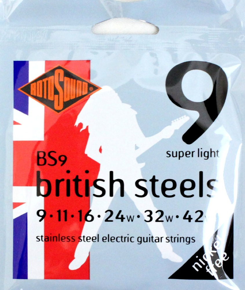 ROTOSOUND ROT-BS9 Super Light エレキギター弦×12SET
