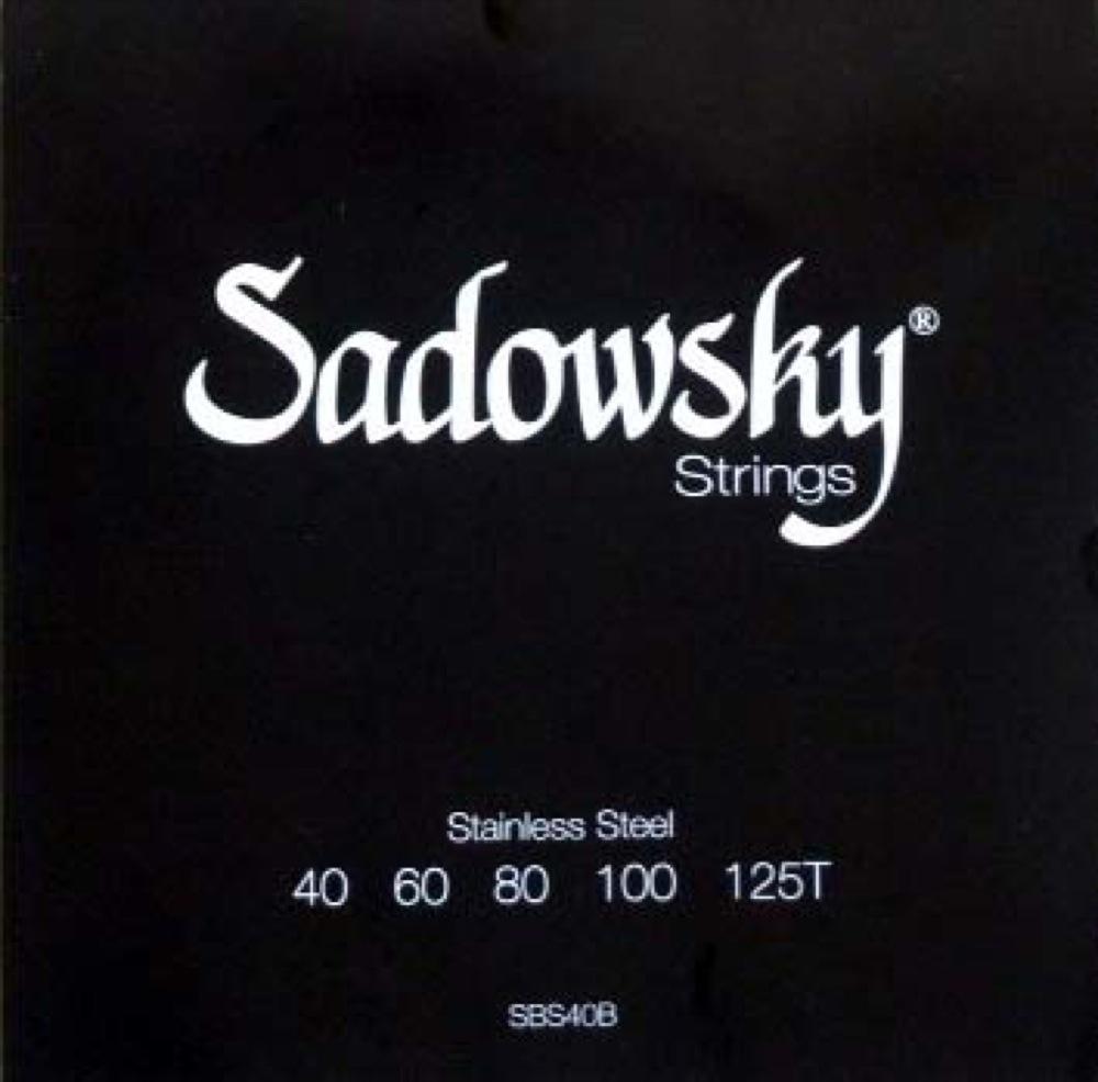 SADOWSKY SBS40B Black ブラックラベル 5弦ベース弦×3セット