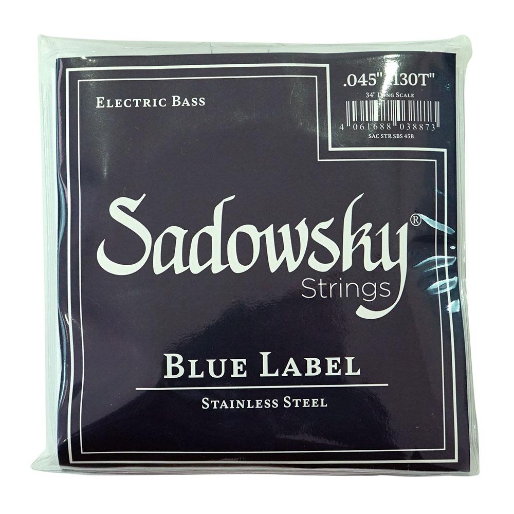 SADOWSKY SBS45B Blue ブルーラベル ステンレススチール 5弦ベース弦×2セット