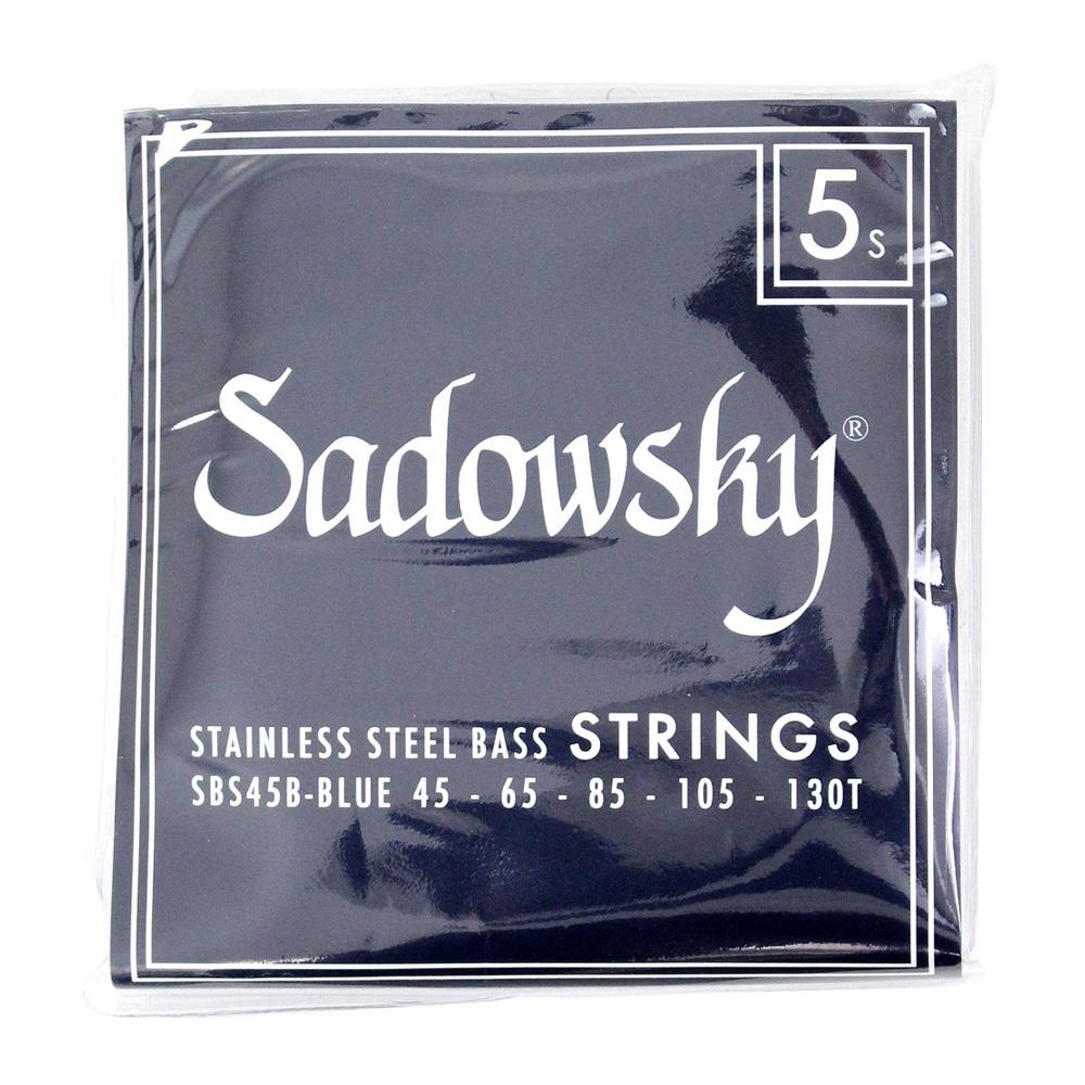 SADOWSKY SBS45B Blue ブルーラベル ステンレススチール 5弦ベース弦×5セット