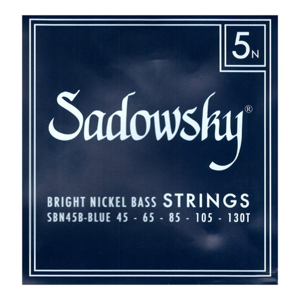 SADOWSKY SBN45B Blue ブルーラベル ニッケル 5弦ベース弦×3セット