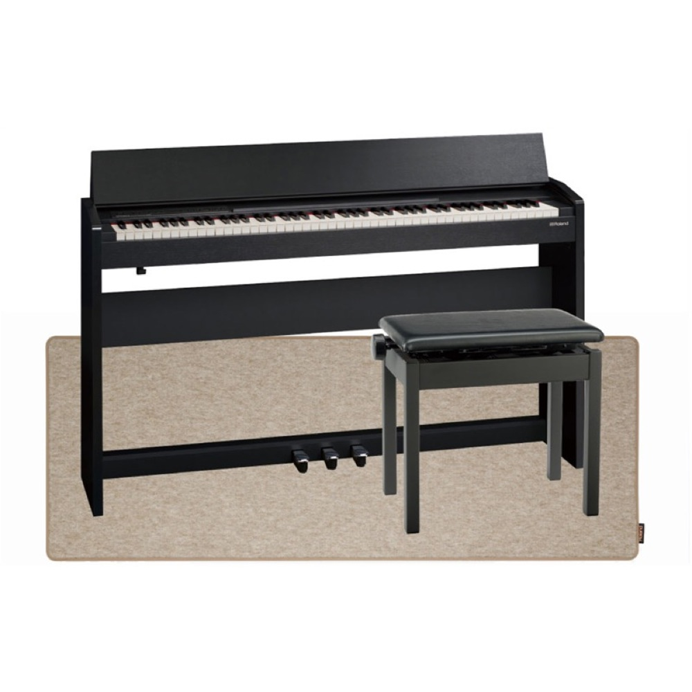 ROLAND F-140R CB 電子ピアノ 高低自在イス&ピアノセッティングマット付き セット【組立設置無料サービス中】