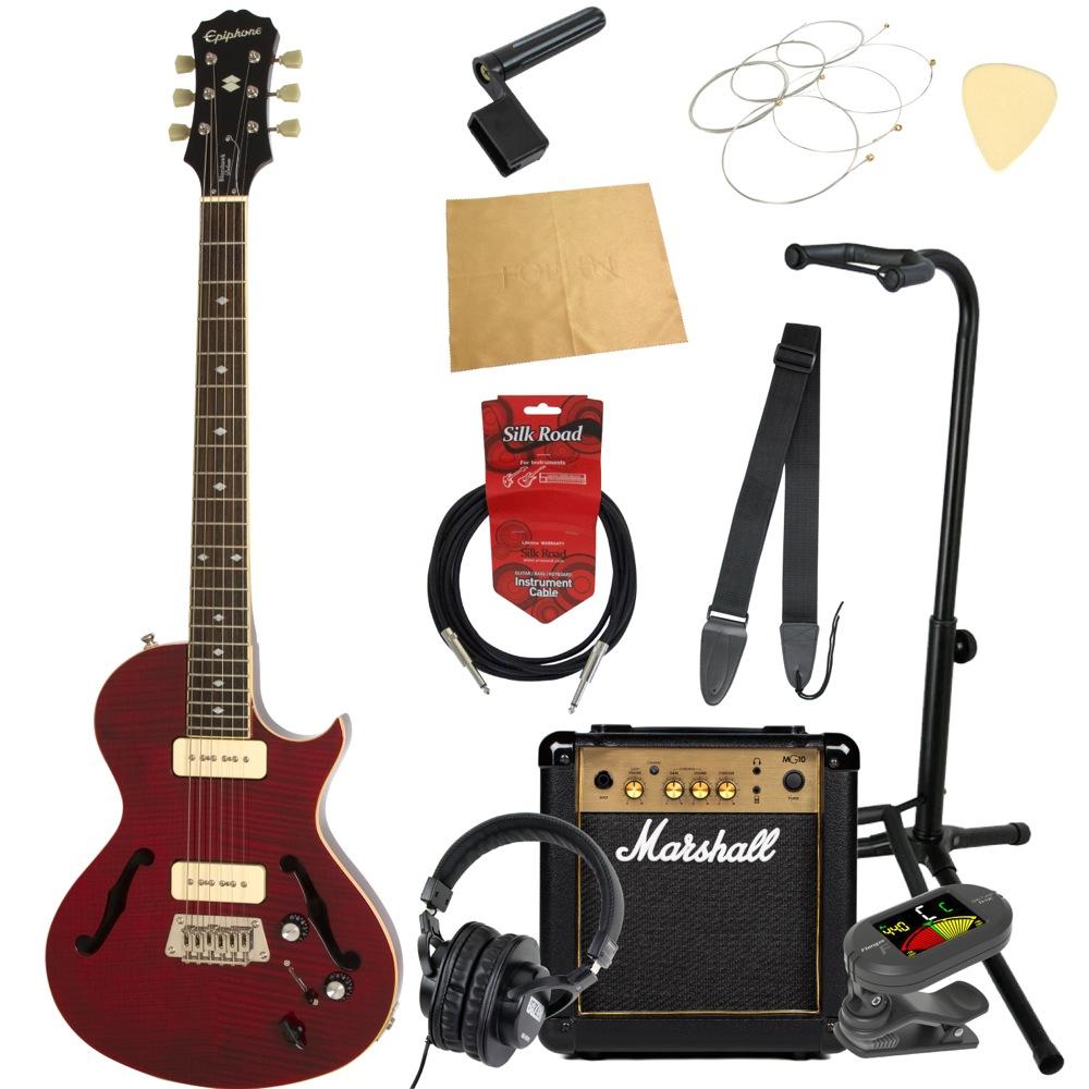 エピフォンから始める!大人の入門セット Epiphone Blueshawk DELUXE WR エレキギター Marshallアンプ付 11点セット