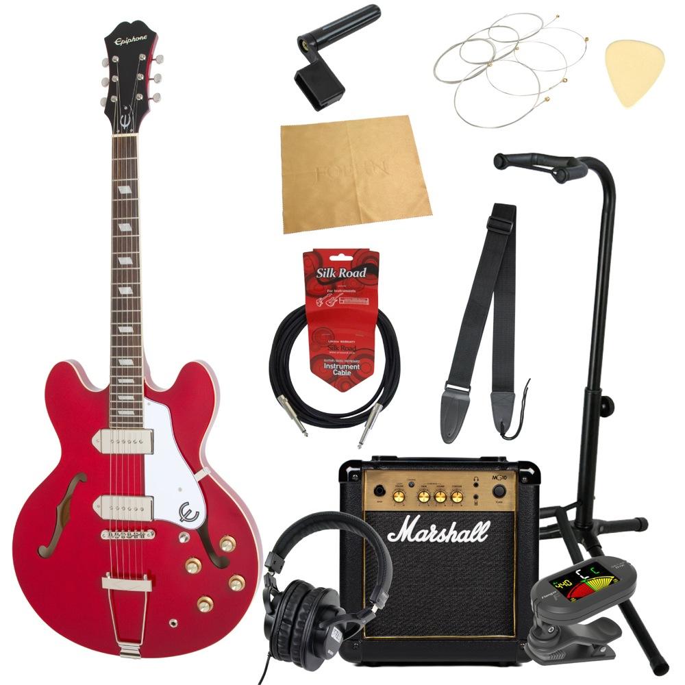 エピフォンから始める!大人の入門セット Epiphone Casino CH エレキギター Marshallアンプ付 11点セット
