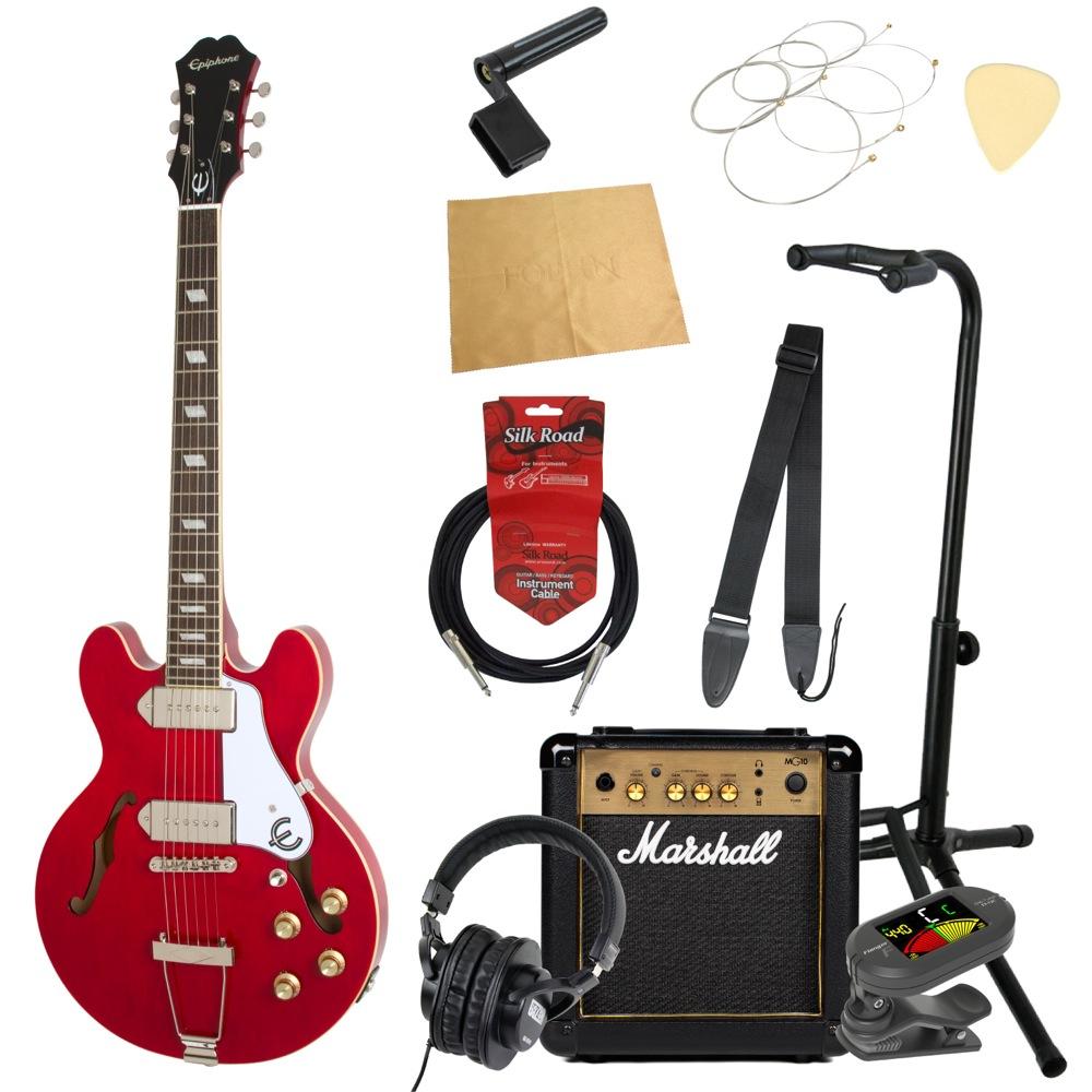 エピフォンから始める!大人の入門セット Epiphone Casino Coupe CH エレキギター Marshallアンプ付 11点セット