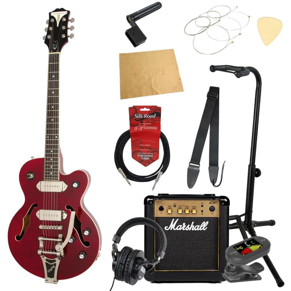 エピフォンから始める!大人の入門セット Epiphone Limited Edition Wildkat WR エレキギター Marshallアンプ付 11点セット