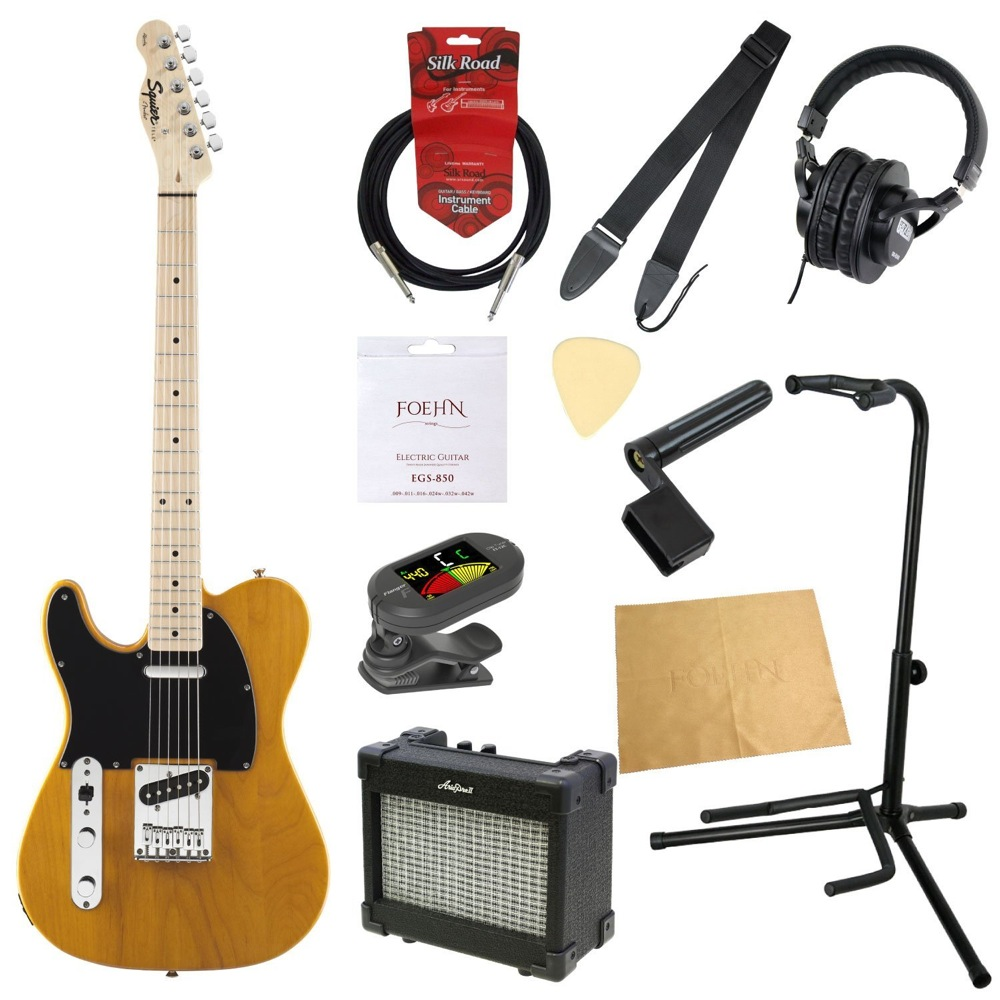 エレキギター入門11点セット Squier Affinity Series Telecaster Left-Hand SPCL BTB