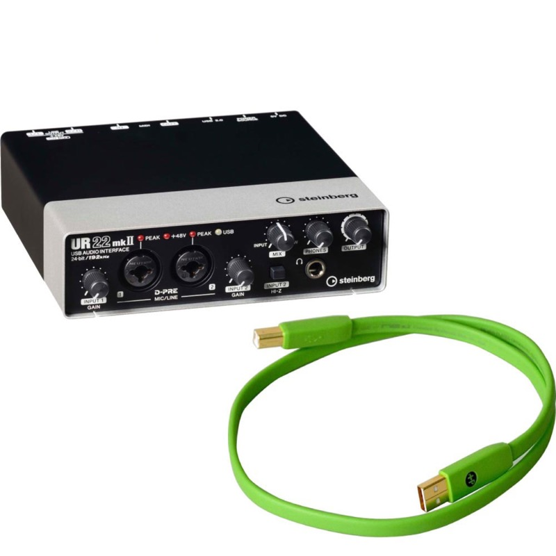 人気ブランドの steinberg 2.0 UR22mkII 2x2 USB 2.0 オーディオインターフェース Elec OYAIDE Elec d+ OYAIDE USB class B 0.7m USBケーブル付きセット, 東京ガーデニングスタイル:62f9f7ec --- rki5.xyz