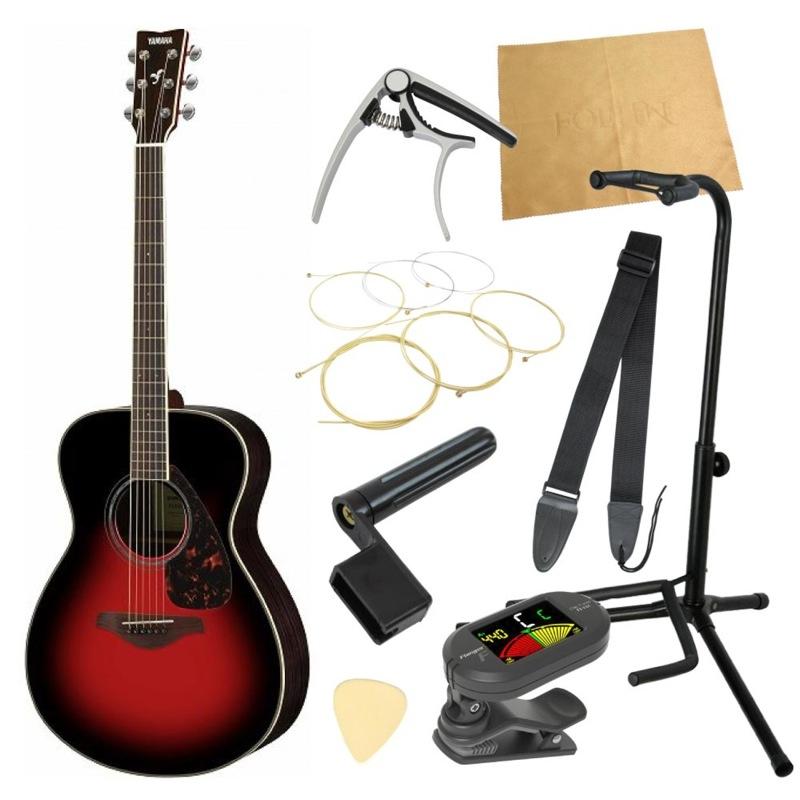 ヤマハから始める!大人のアコギ入門セット YAMAHA FS830 DSR アコースティックギター 9点セット