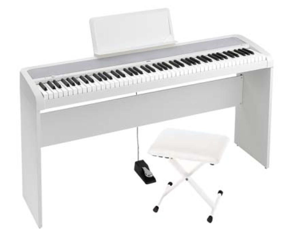 KORG B1 WH 電子ピアノ イス、純正スタンドセット
