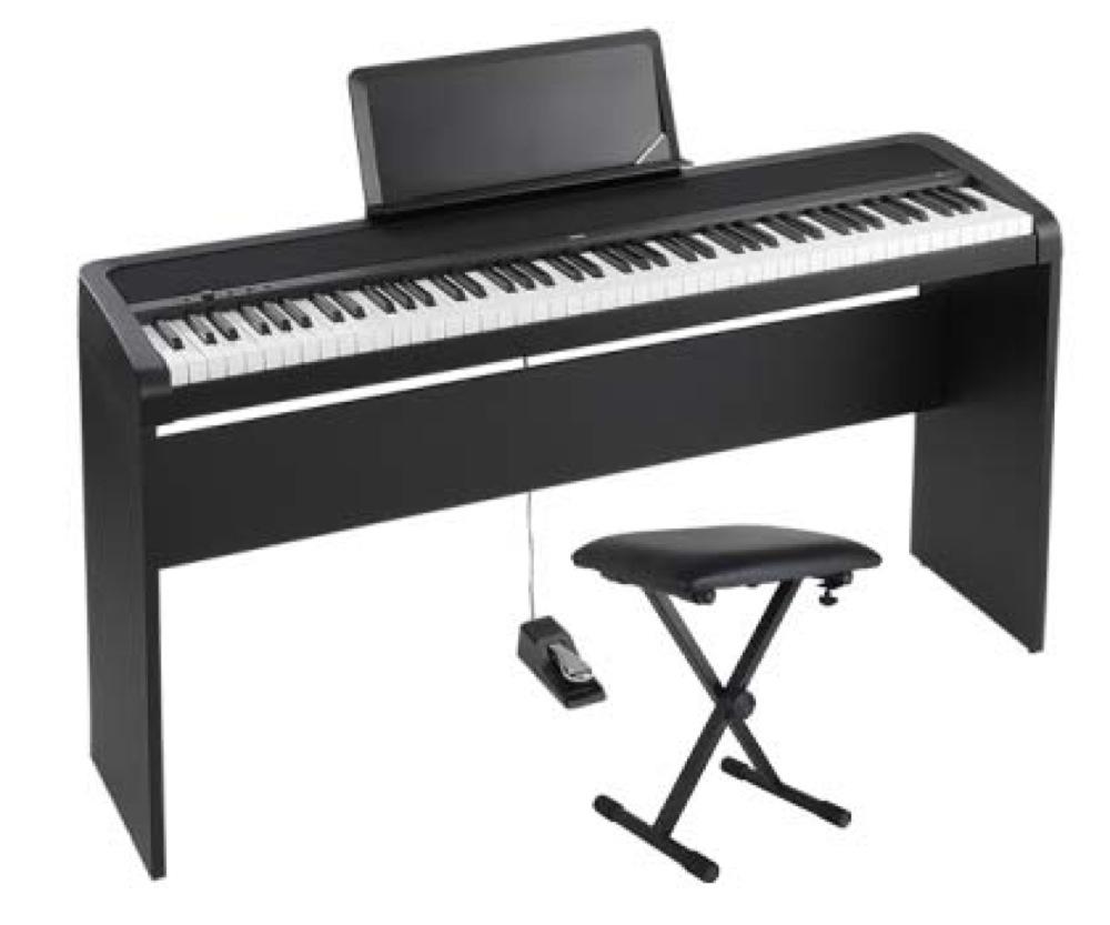 KORG B1 BK 電子ピアノ イス、純正スタンドセット