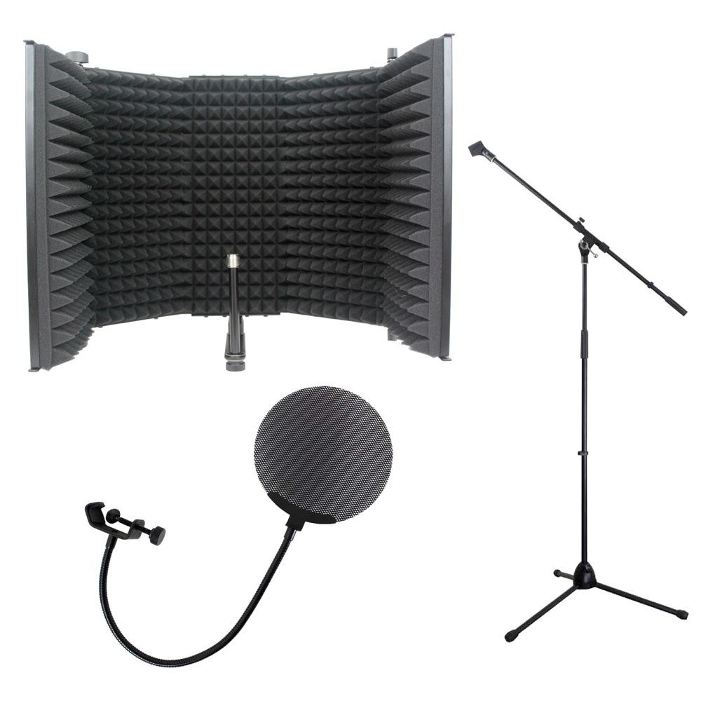 iSK RF-1 リフレクションフィルター Dicon Audio MS-003 マイクスタンド Dicon Audio DCP-2 メタルポップフィルター 3点セット