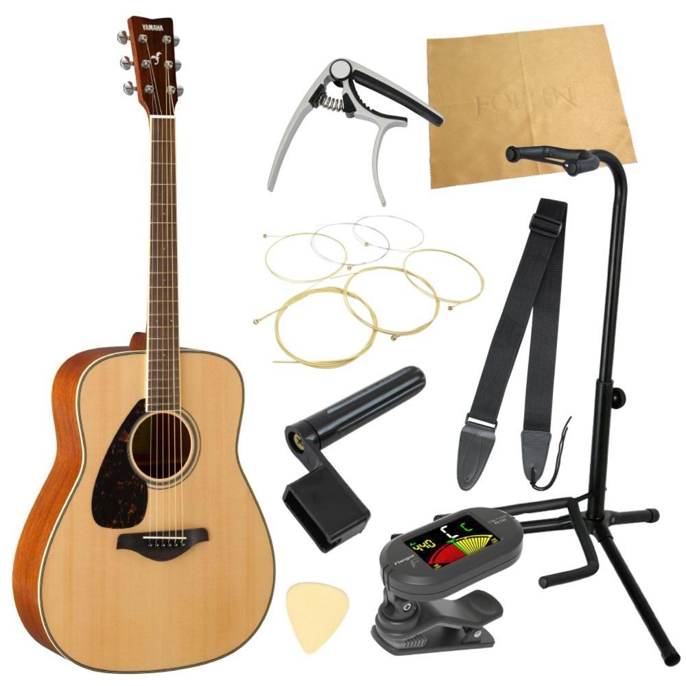 ヤマハから始める!大人のアコギ入門セット YAMAHA FG820L NT アコースティックギター レフトハンドモデル 9点セット