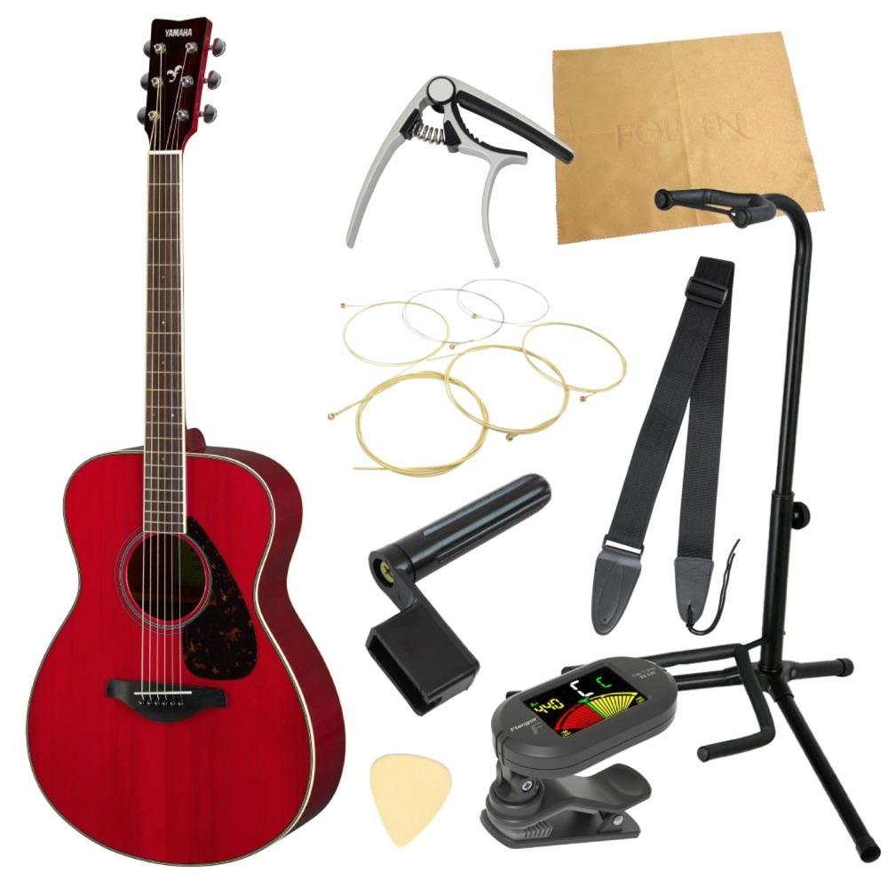 ヤマハから始める!大人のアコギ入門セット YAMAHA FS820 RR アコースティックギター 9点セット