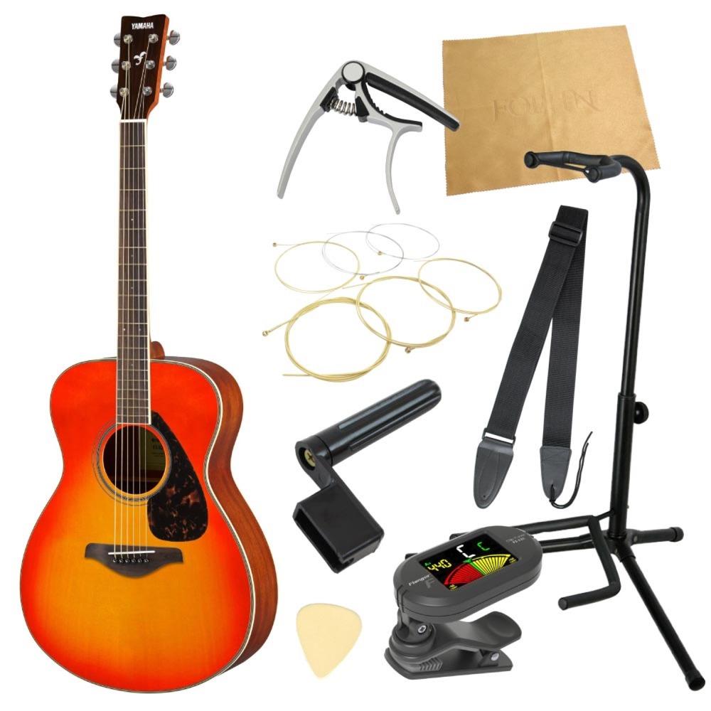 ヤマハから始める!大人のアコギ入門セット YAMAHA FS820 AB アコースティックギター 9点セット