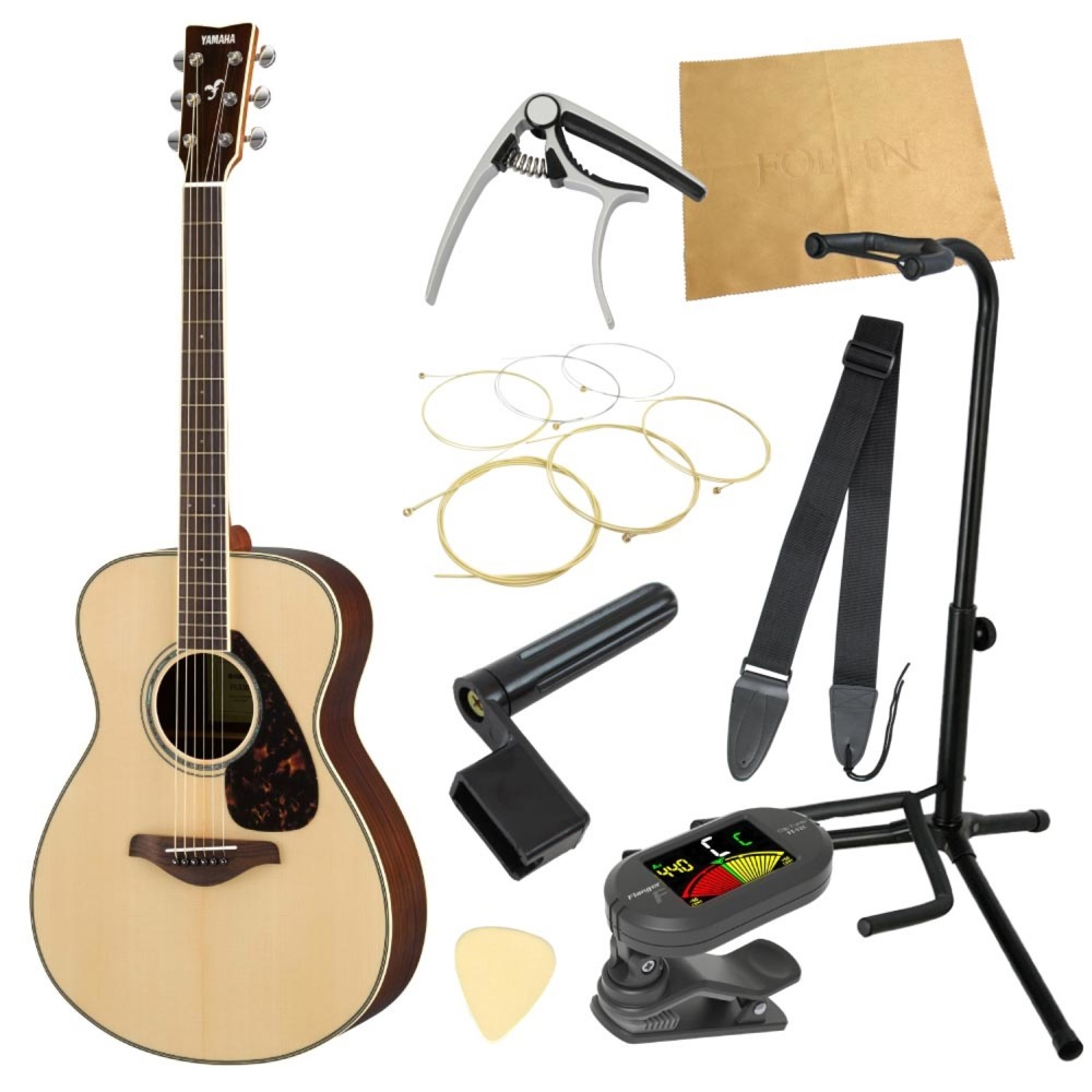 ヤマハから始める!大人のアコギ入門セット YAMAHA FS830 NT アコースティックギター 9点セット