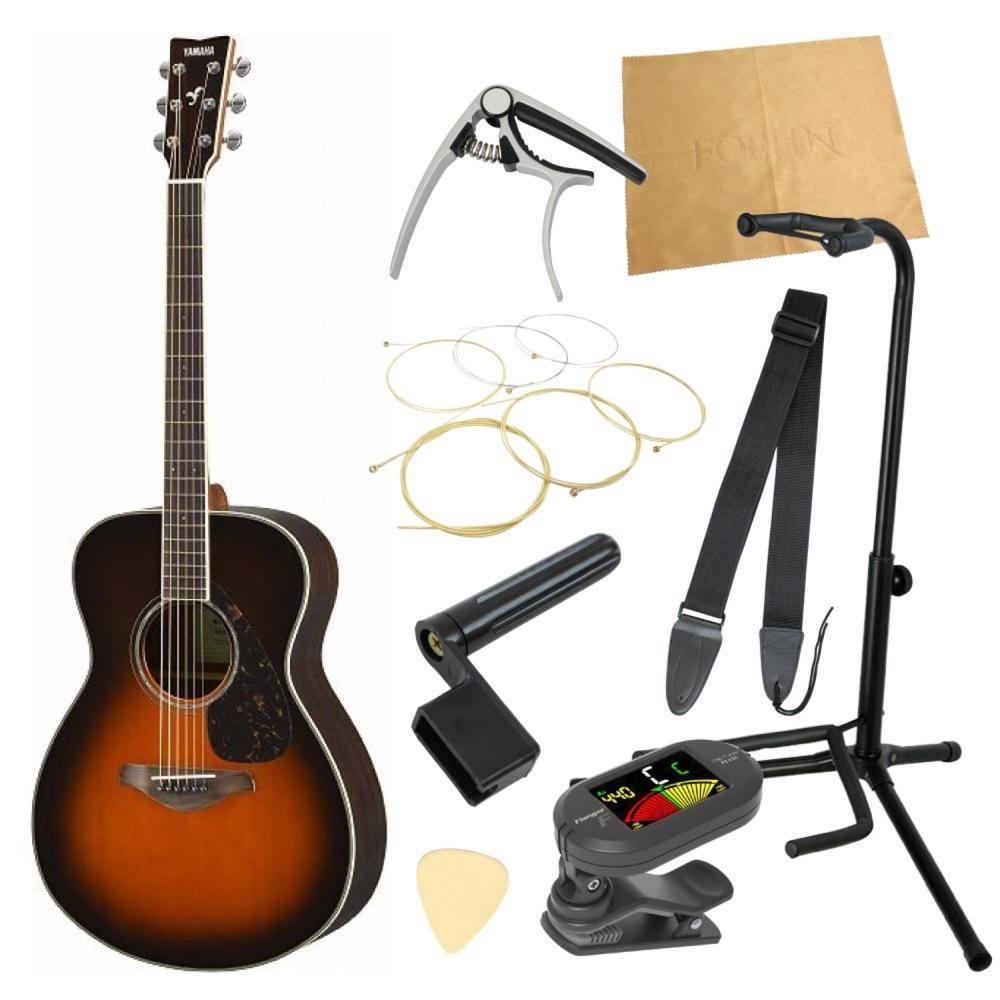 ヤマハから始める!大人のアコギ入門セット YAMAHA FS830 TBS アコースティックギター 9点セット