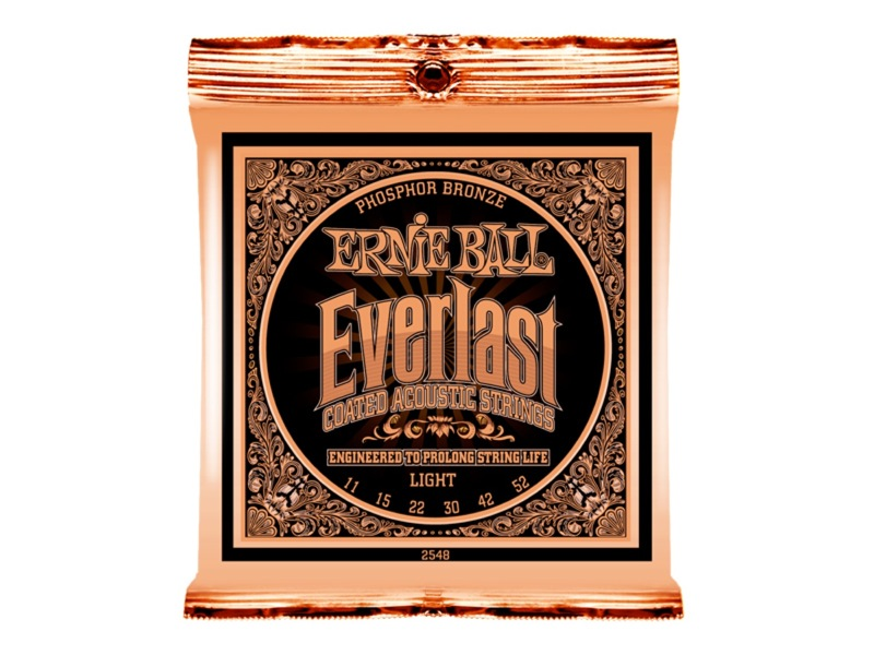 ERNIE BALL 2548 Everlast Coated PHOSPHOR BRONZE LIGHT アコースティックギター弦 ×12セット