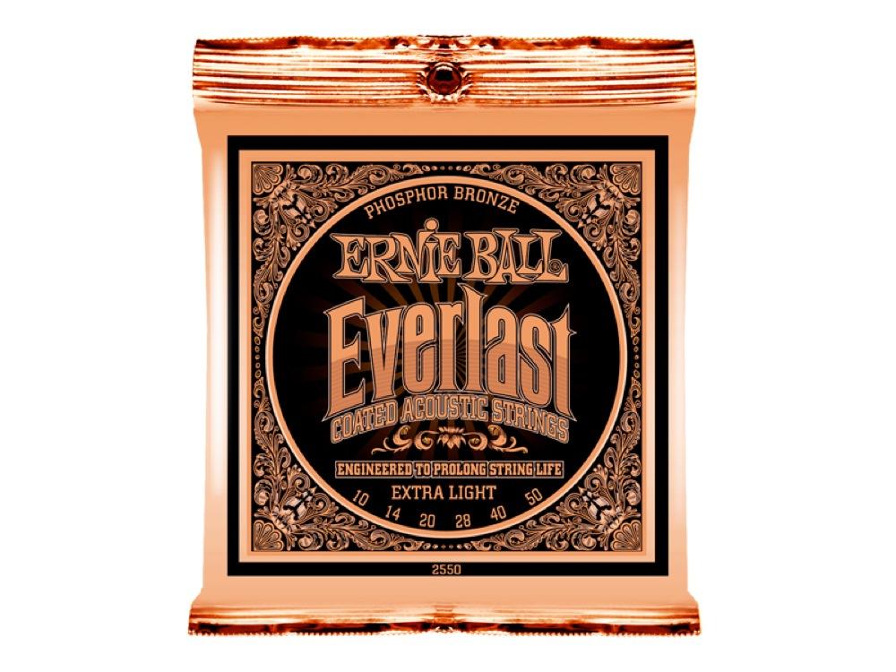 ERNIE BALL 2550 Everlast Coated PHOSPHOR BRONZE EXTRA LIGHT アコースティックギター弦 ×6セット