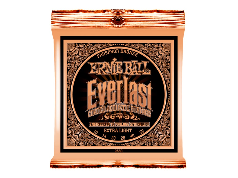 ERNIE BALL 2550 Everlast Coated PHOSPHOR BRONZE EXTRA LIGHT アコースティックギター弦 ×12セット