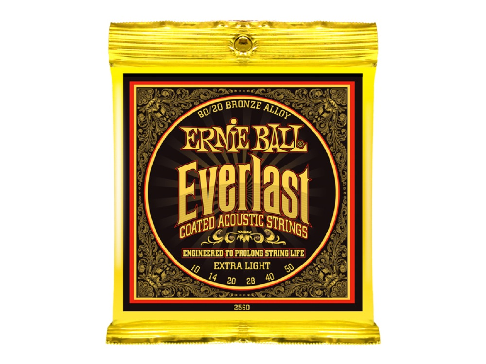 ERNIE BALL 2560 Everlast Coated 80/20 BRONZE ALLOY EXTRA LIGHT アコースティックギター弦 ×6セット