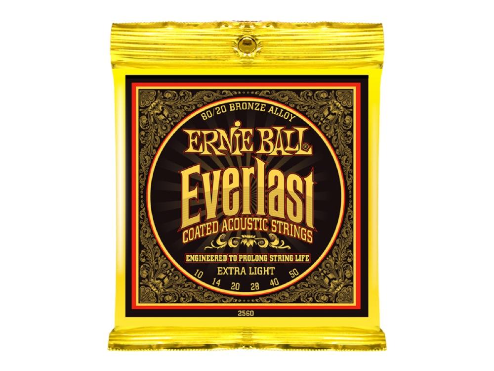 ERNIE BALL 2560 Everlast Coated 80/20 BRONZE ALLOY EXTRA LIGHT アコースティックギター弦 ×12セット