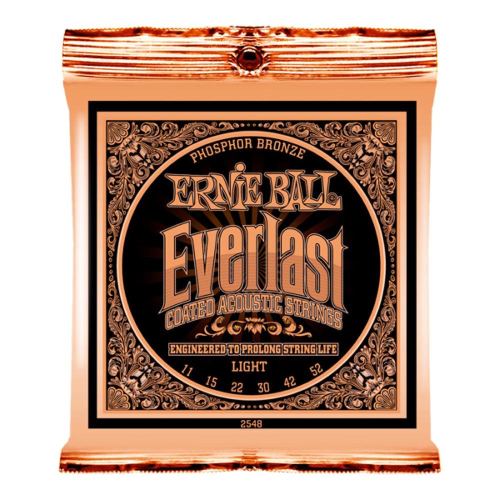ERNIE BALL 2548 Everlast Coated PHOSPHOR BRONZE LIGHT アコースティックギター弦 ×6セット