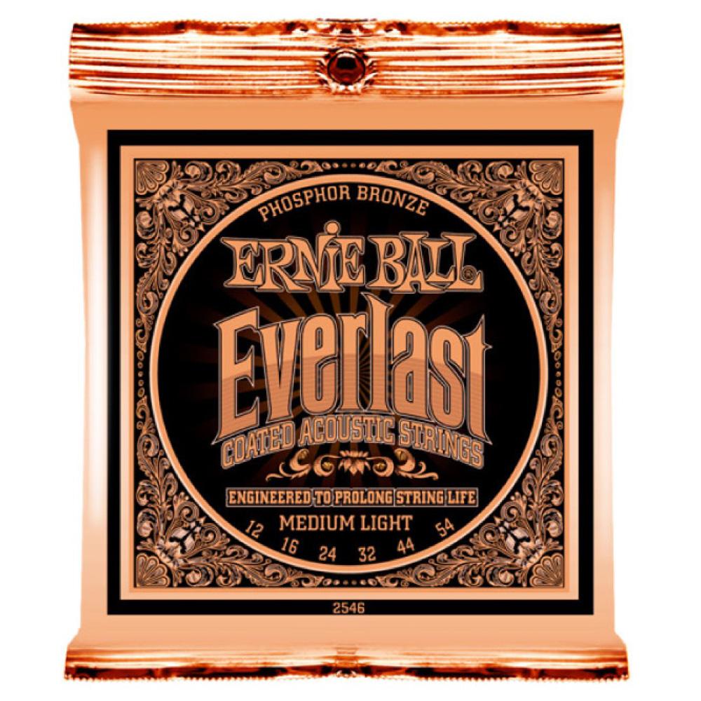 ERNIE BALL 2546 Everlast Coated PHOSPHOR BRONZE MEDIUM LIGHT アコースティックギター弦 ×12セット