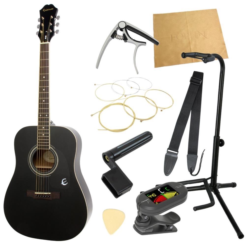 エピフォンから始める!大人のアコギ入門セット Epiphone DR-100 EB アコースティックギター 9点セット