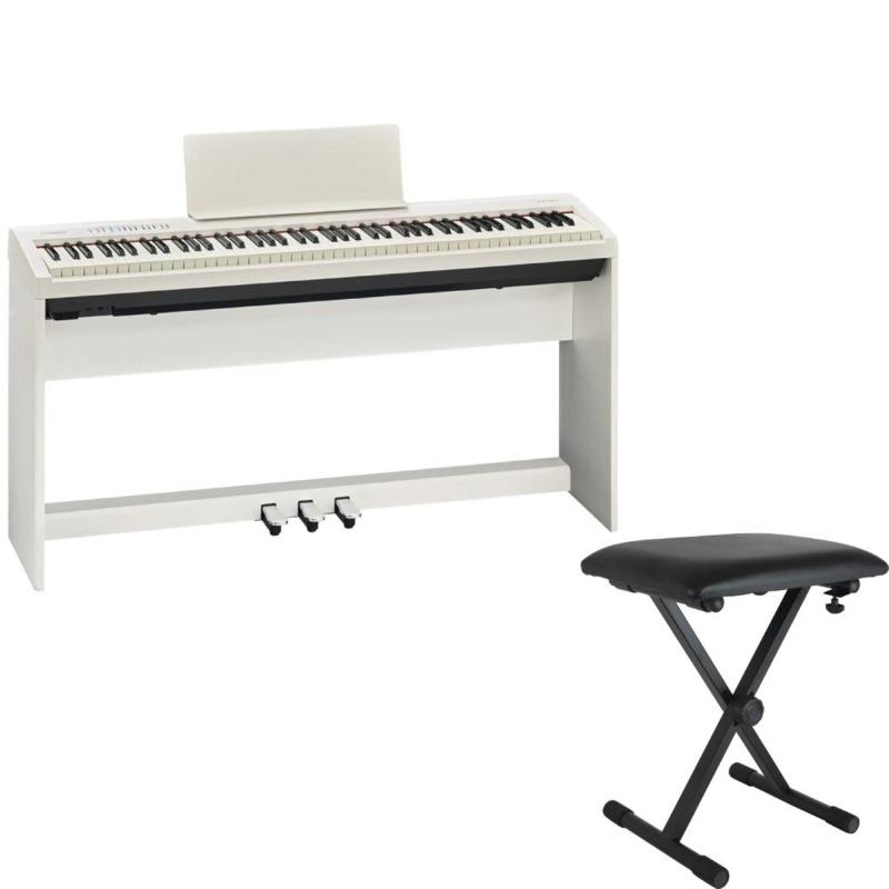 ROLAND FP-30 WH 電子ピアノ 純正スタンド ペダルユニット X型イス付きセット