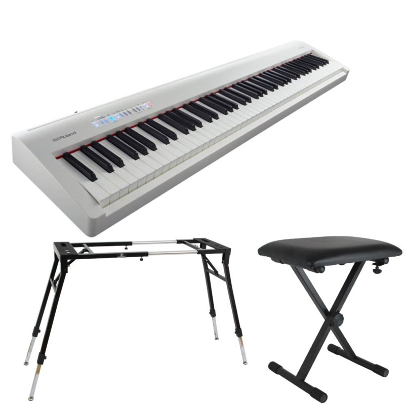 ROLAND FP-30 WH 電子ピアノ 4本脚スタンド X型イス付きセット