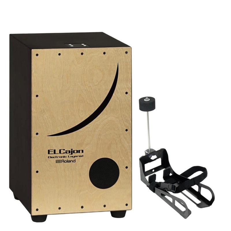 ROLAND EC-10 Electronic Layered Cajon 電子カホン & HarmoTECH カホン用キックペダル セット