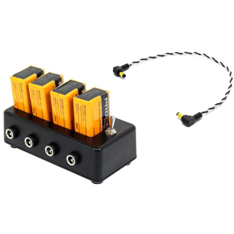 Stoner's FX BATTERY PARK バッテリーパーク パワーサプライ NEO by OYAIDE Elec 30cm DCケーブル×4本 Procell PRO-9V 9V電池×4本 セット