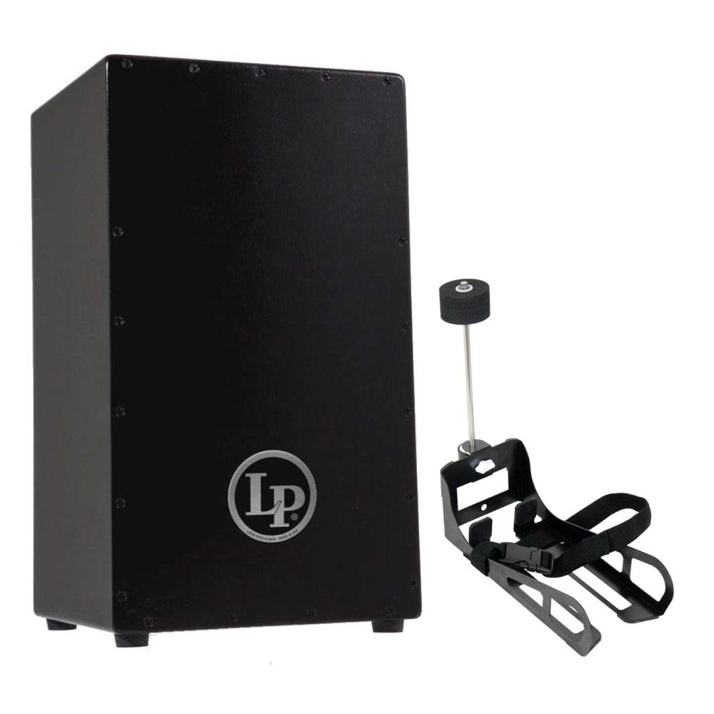 LP LP1428NY Black Box Cajon カホン & HarmoTECH カホン用キックペダル セット
