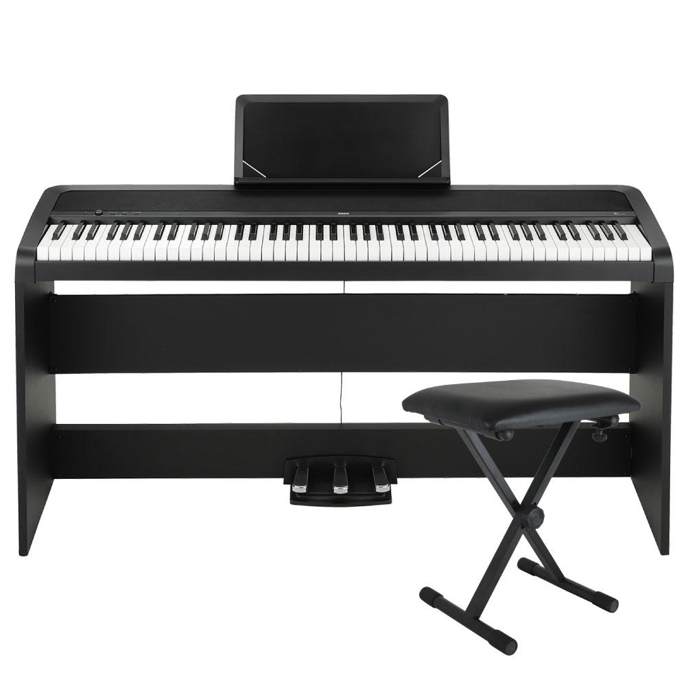 KORG B1SP BK 電子ピアノ X型キーボードベンチ付セット