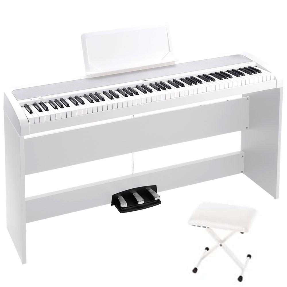 KORG B1SP WH 電子ピアノ X型キーボードベンチ付セット