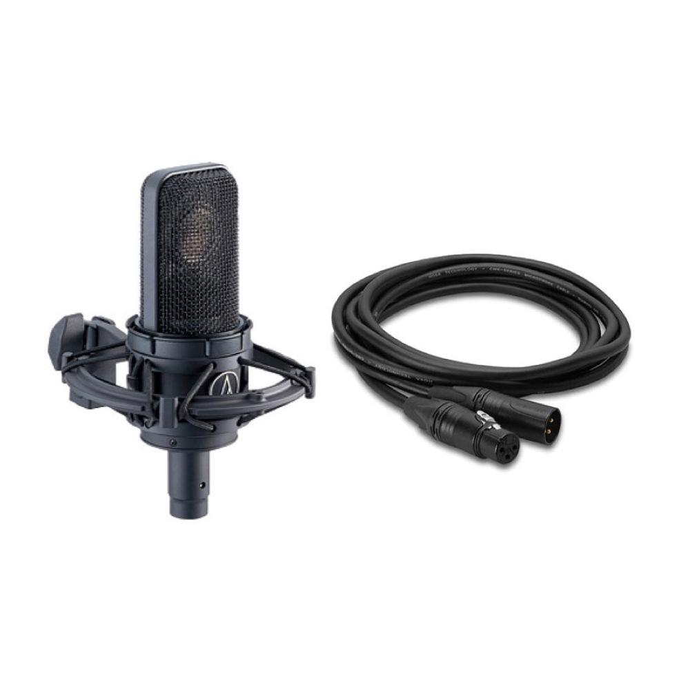AUDIO-TECHNICA AT4040 コンデンサーマイク Hosa CMK-010AU ノイトリックプラグ 3m マイクケーブル 2点セット