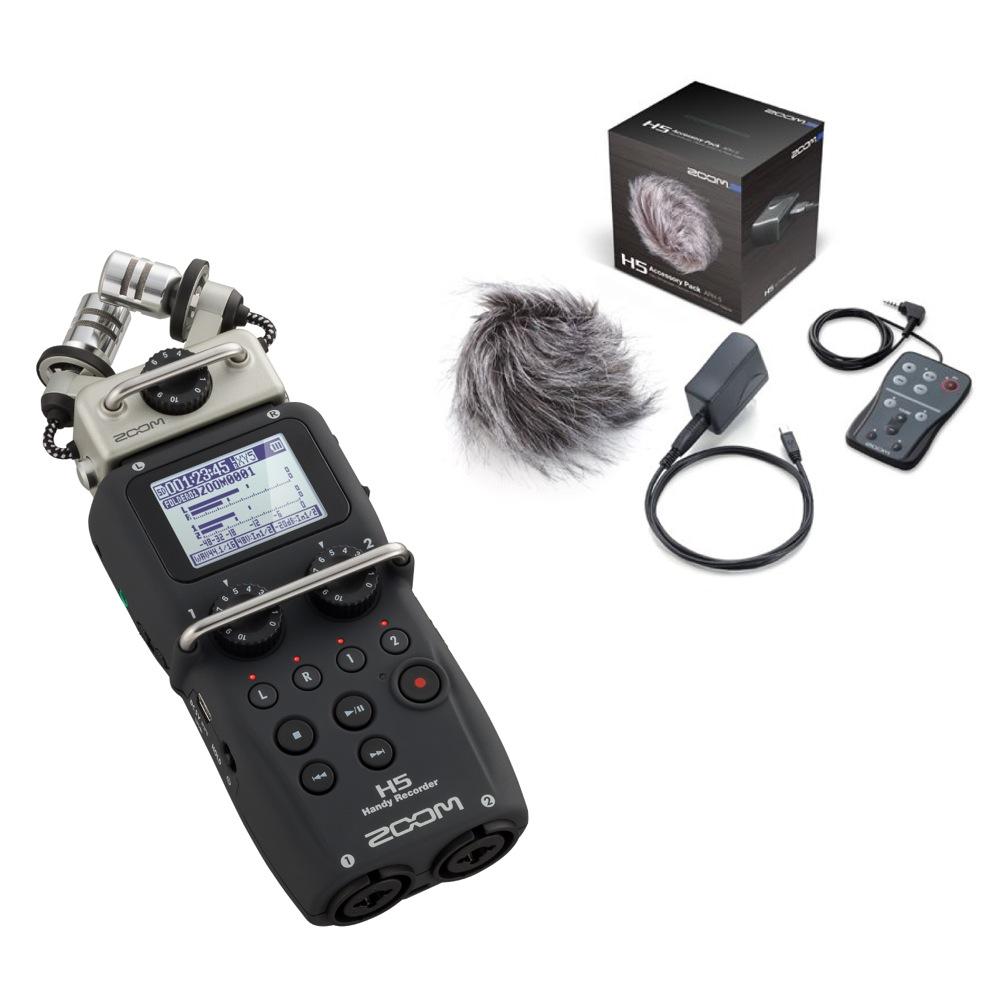 ZOOM H5 ハンディーレコーダー APH-5 H5専用アクセサリパッケージ付きセット