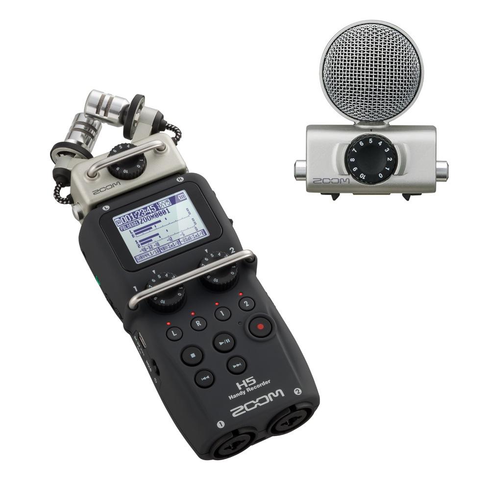 ZOOM H5 ハンディーレコーダー MSH-6 H5専用マイク付きセット
