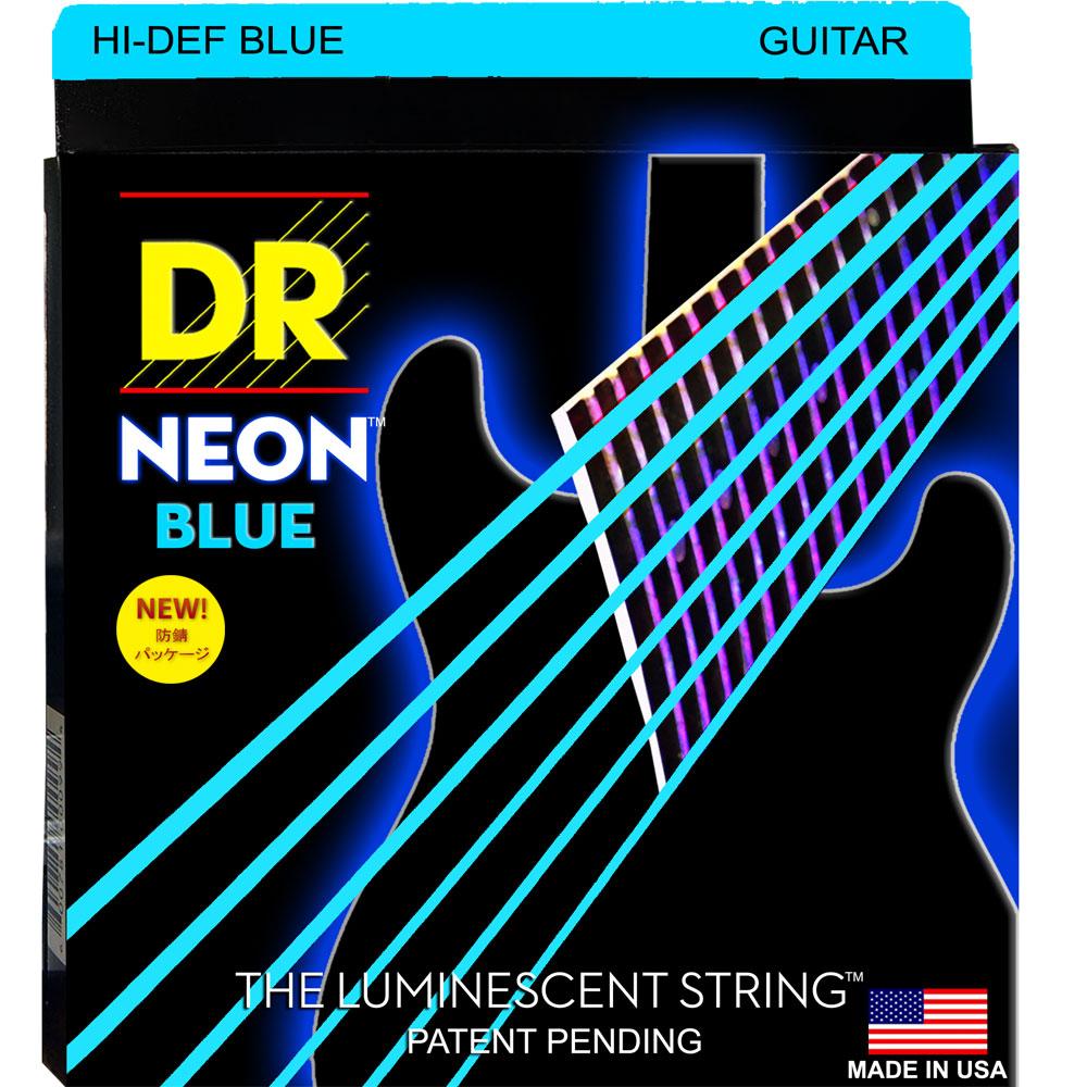DR NEON HI DEF/E BLUE MEDIUM NBE-10 エレキギター弦×6セット