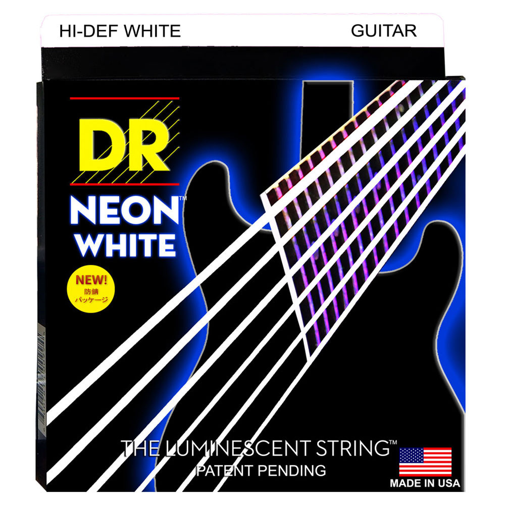 DR NEON HI DEF/E WHITE MEDIUM NWE-10 エレキギター弦×6セット