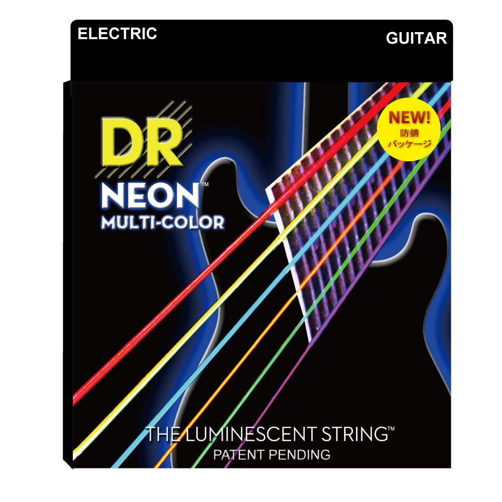 DR NEON MULTI COLOR NMCE-2/10 MEDIUM 2PACK エレキギター弦 2セット入り×12セット