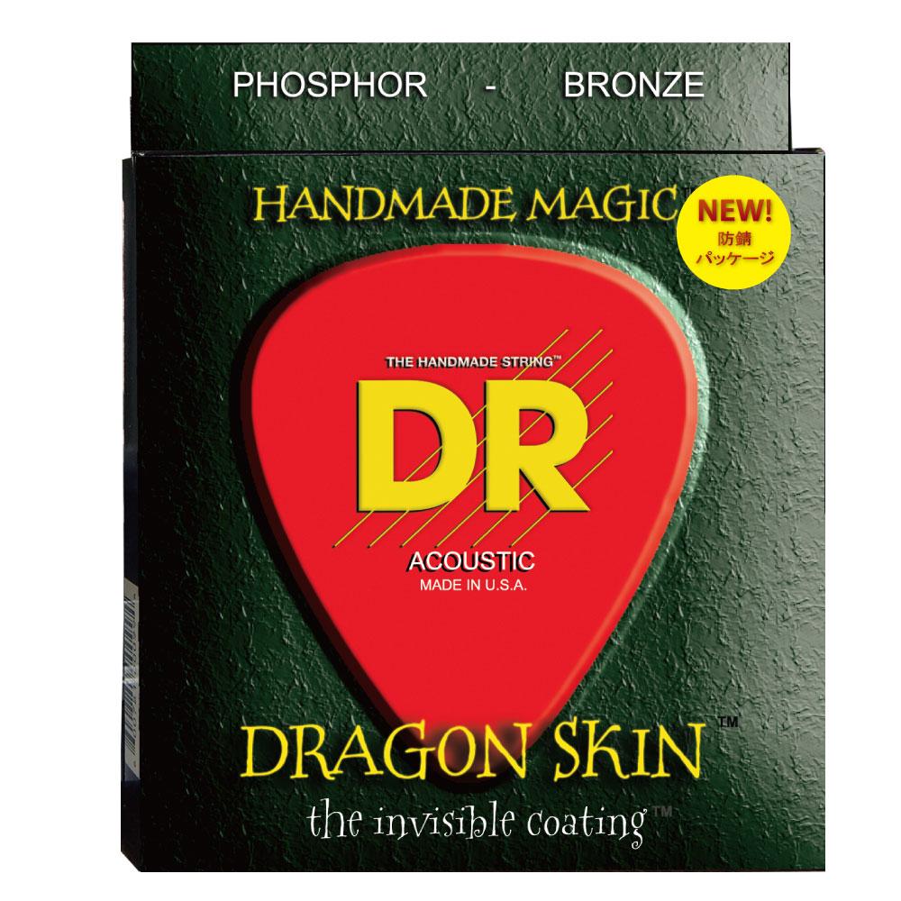 DR DRAGON SKIN DSA-2/11 MEDIUM LITE 2PACK アコースティックギター弦 2セット入り×12セット