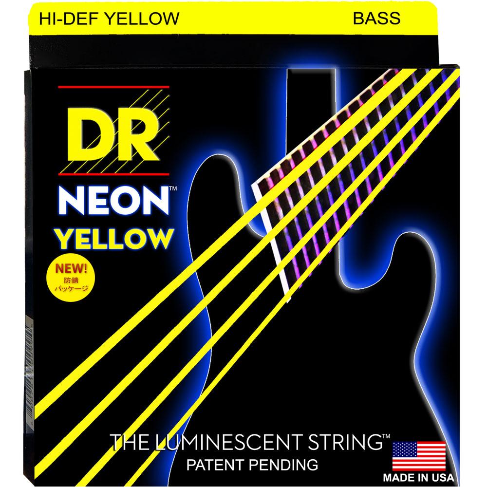 DR NEON HI-DEF YELLOW/B MEDIUM NYB-45 エレキベース弦×2セット