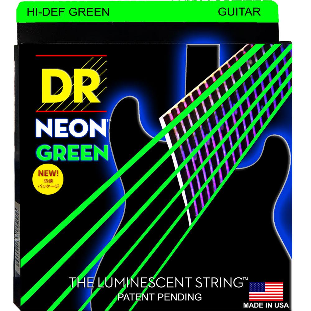 DR NEON Hi-Def GREEN NGE-9 LITE エレキギター弦×6セット