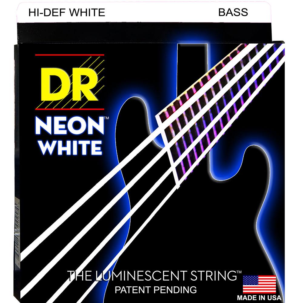 DR NEON HI-DEF WHITE/B MEDIUM NWB-45 エレキベース弦×2セット