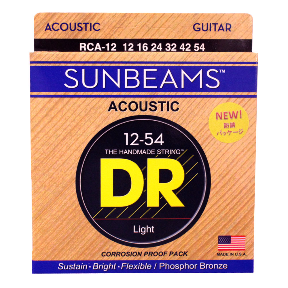 DR SUNBEAM DR-RCA12 Medium アコースティックギター弦×12セット
