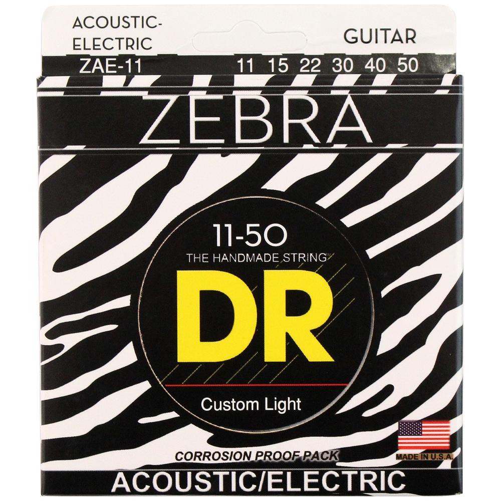 DR ZEBRA ZAE-11 MEDIUM-LITE アコースティックギター弦×12セット