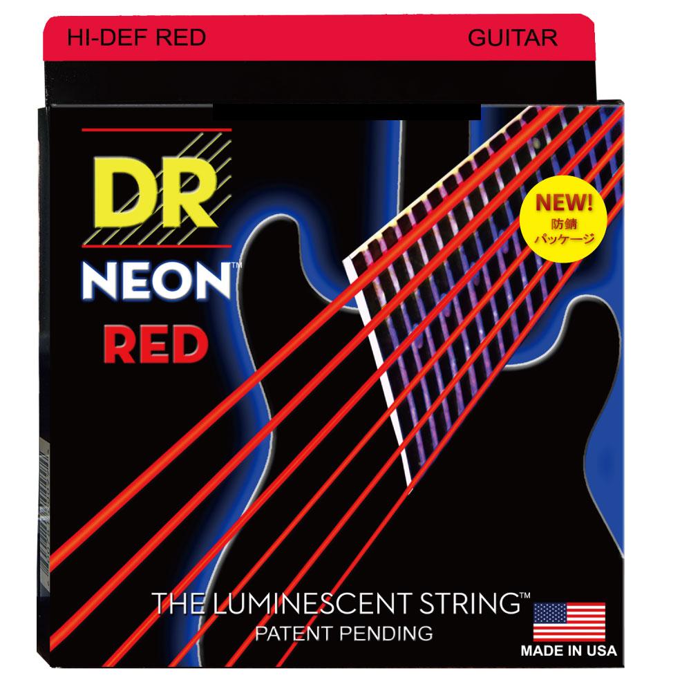 DR NEON Hi-Def RED NRE-9 LITE エレキギター弦×6セット